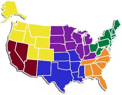 ACDCA Regional Map 2021