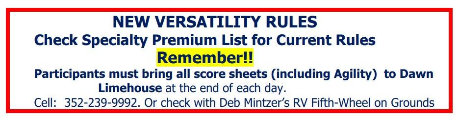 Versatility New Rules